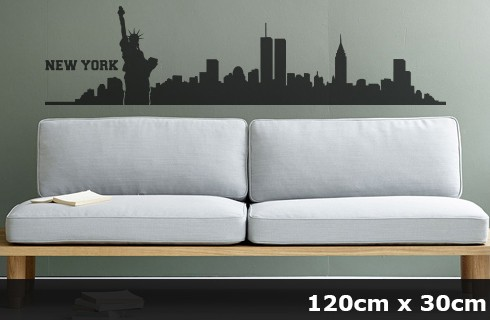 Wandtattoo NEW YORK Skyline 120 x 30cm WT-0011