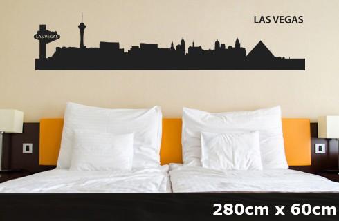 Wandtattoo LAS VEGAS Skyline 280 x 60cm WT-0033
