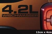 4.2L Wischwasser Decal DUB JDM OEM Aufkleber Autoaufkleber AG-0082