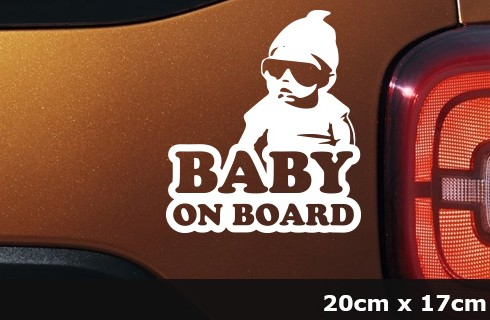 BABY ON BOARD Mini Rapper Aufkleber Auto Kind Sticker- AG-0047