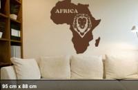 Wandtattoo Afrika Löwe 95x88cm, Africa Kontinent | WT-0001