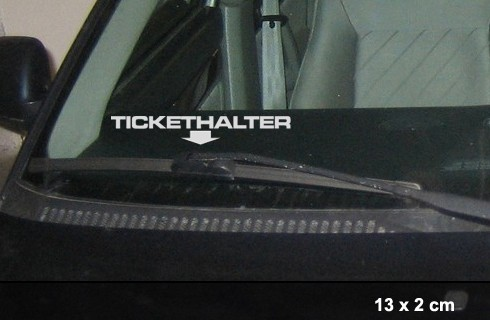 Tickethalter Aufkleber Strafzettel Polizei Plakette | AG-0035