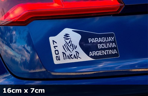 DAKAR Metallic Edition Aufkleber 2017 | 16 x 7 cm | AG-0085-SBM