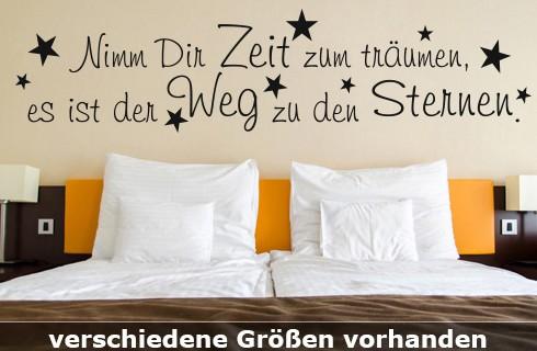 """Wandtattoo Sprüche """"Zeit zum träumen"""" 100x24 cm oder 120x28 cm WT-0020"""