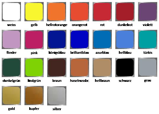Farbkarte-Wand