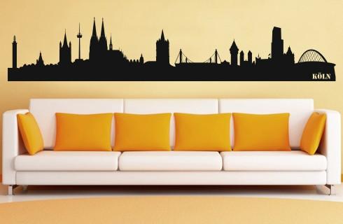 HM© Wandtattoo Köln Skyline bis zu einer Gr von 280x55 cm WT-0005