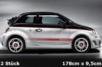 Fiat 500 Abarth EVO Seitenstreifen, Sportstreifen, Stripes | AG-0109