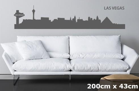 Wandtattoo LAS VEGAS Skyline 200 x 43cm WT-0031