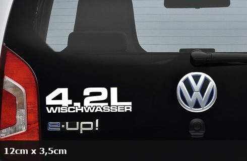 4.2L Wischwasser Decal DUB JDM OEM Aufkleber Autoaufkleber AG-0075