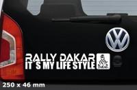 DAKAR Autoaufkleber | 25 x 4,6 cm | AG-0059