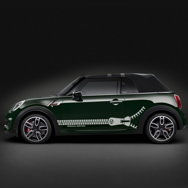 Mini Cooper Reißverschluß, Streifen, Aufkleber 55 x 170cm | 4-teilig | AG-0015