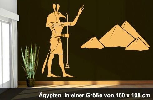 Wandtattoo Ägypten Götter | Größe von 160 x 108cm WT-0026