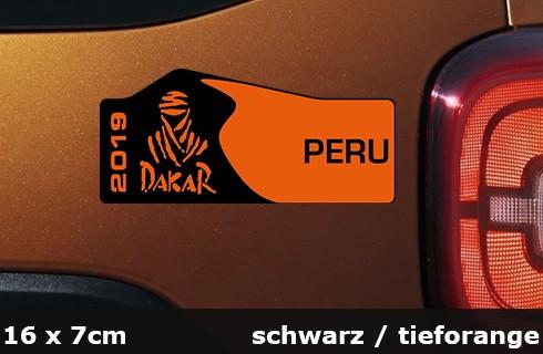 Dakar Eidtion Aufkleber 2019 16 x 7 cm AG-0110-BT