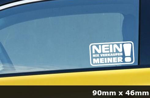 Nix Karte Nix verkaufen Meins JDM Sticker Aufkleber Auto 2 Stück AG-0049
