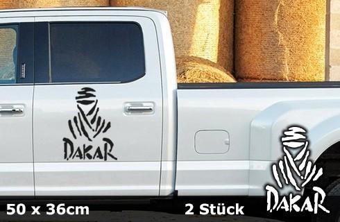 DAKAR Autoaufkleber   50 x 36 cm   2er Set   AG-0027