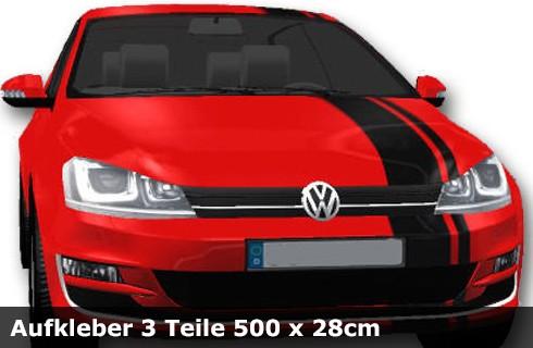 Mini Cooper Streifen, Tuningstreifen, Viper Streifen, Aufkleber 3 Teile | 500 x 28cm | AG-0020