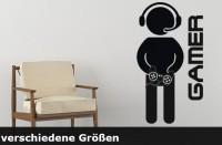 Wandtattoo Gamer bis zu 150 x 81 cm Größe - WT-0115