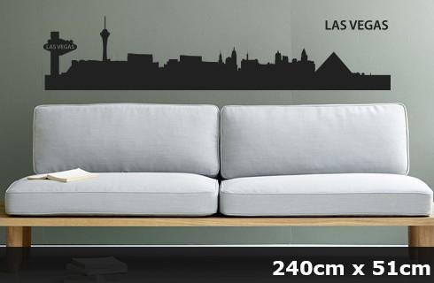 Wandtattoo LAS VEGAS Skyline 240 x 51cm WT-0032