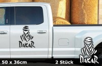 DAKAR Autoaufkleber | 50 x 36 cm | 2er Set | AG-0027