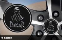 DAKAR Felgenaufkleber Chrom | 4er Set | schwarz-matt / silber-chrom | AG-0076