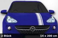 Mini Cooper Streifen, Tuningstreifen, Viper Streifen, Aufkleber 2 Teile | 400 x 14cm | AG-0037