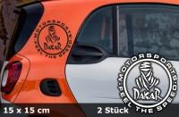 DAKAR Autoaufkleber Sonderedition | 15 x 15 cm | 2er Set | AG-0062