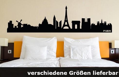 Wandtattoo Paris Skyline bis zu 260x66cm Größe WT-0008