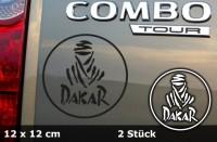 DAKAR Autoaufkleber | 12 x 12 cm | 2er Set | AG-0014