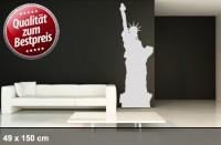 Wandtattoo NEW YORK Freiheitsstatue LIBERTY 150 x 49cm WT-0015