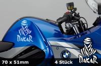 DAKAR Motorradaufkleber | 70 x 51 mm | 4er Set | AG-0032