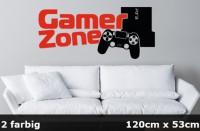 Wandtattoo Gamer Zone 120 x 53 cm 2-farbig - WT-0108