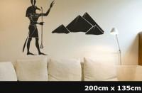 Wandtattoo Ägypten Götter | Größe von 200x135 cm WT-0028