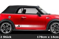 Mini Cooper Streifen Seitenstreifen, Sportstreifen, Stripes, 2-farbig - | AG-0108