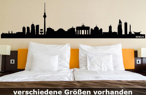 Wandtattoo Berlin Skyline bis zu 260 x 64 cm Größe WT-0007
