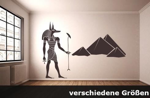 Wandtattoo Ägypten Anubis Götter bis Größe 240 x 163 cm WT-0019