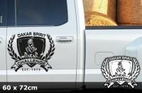 DAKAR Autoaufkleber | 60 x 72 cm | AG-0057