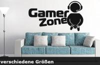 Wandtattoo Gamer Zone bis zu einer Größe von 120 x 66cm - WT-0113