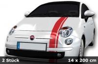 Mini Cooper Streifen, Tuningstreifen, Viper Streifen, Aufkleber 2 Teile | 400 x 14cm | AG-0036