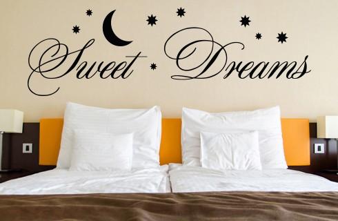 Wandtattoo Sprüche Sweet Dreams Wohnzimmer Schlafzimmer in 3 Größen WT-0017